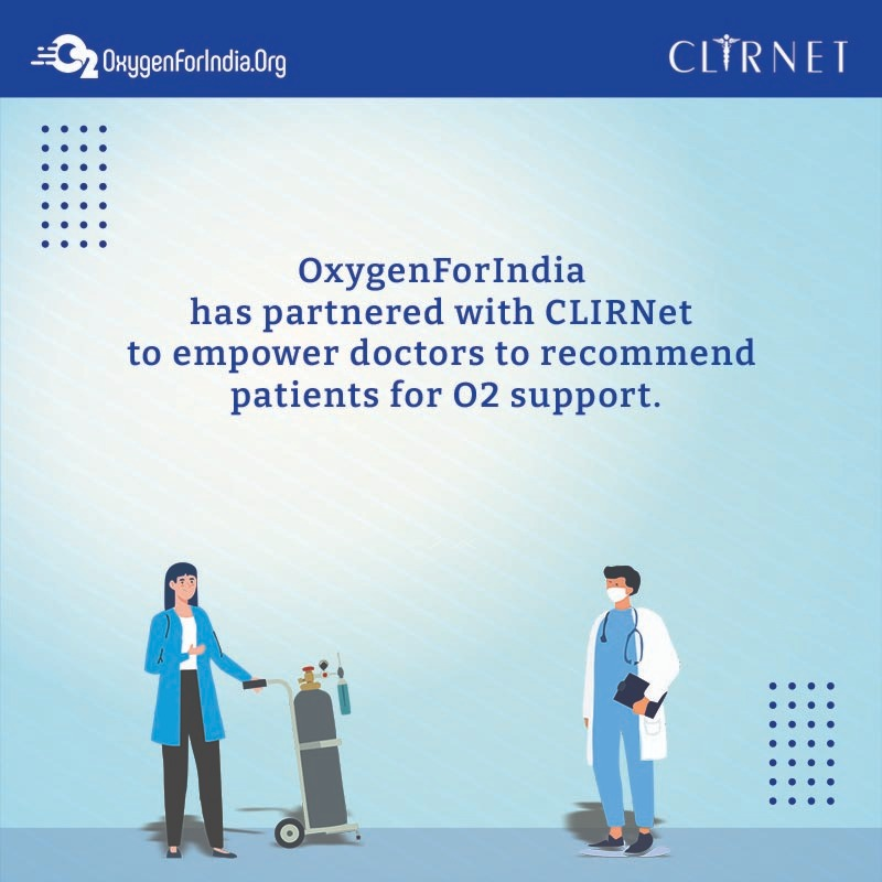 CLIRNet & OxygenForIndia Join Hands